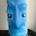 Blue Meany - Cardboard and Foam