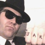 One half of the 'Blues Brothers'
