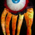 Eyeball Invader - Plastic, Fabric, & Boa