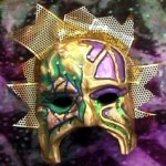 Golden Mardi Gras - Paper Mache
