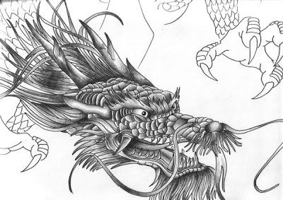 Chinese dragon tattoo4